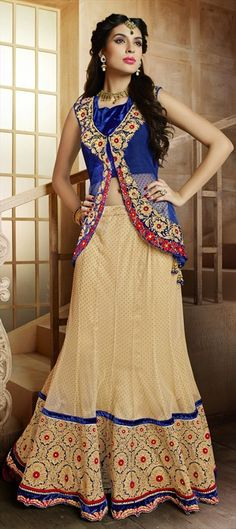 155240: BRIDAL WEAR - try wearing stylish jacket over your lehenga-choli, just like in this one.. Shop it for weddings!
