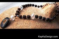 Agate Slice Necklace Dragon Vein Gemstone Pendant by KapKaDesign, $159.00