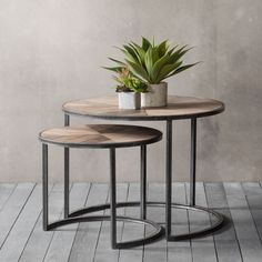 Douglas Coffee Table Nest of 2 , Wood and metal set of 2 nesting tables, Industrial / Rustic Finish, Dimensions: x x and x x Lead time approx. Copper Coffee Table, Rustic Coffee Tables, Wooden Tables, Metal Nesting Tables, Modern Wooden Furniture, Table Furniture, Hudson Furniture, Living Furniture, Furniture Sale