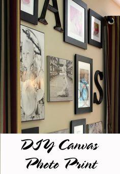 DIY Canvas Photo Prints- using canvas, pictures & mod podge