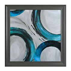 Teal Rings I Framed Art Print | Kirklands