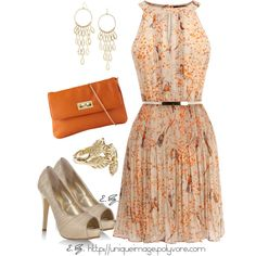 """Bird Print Dress"" by uniqueimage on Polyvore"