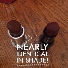 """MAC """"Sin"""" lipstick dupe. wet 'n wild """"Cherry Bomb""""...since sin is sold out :/"""