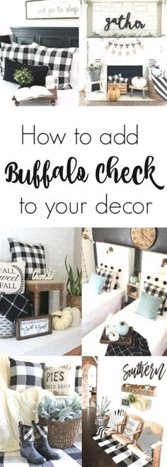 Use buffalo check to create a warm and cozy feeling in your home during the fall and winter months. It is the perfect modern farmhouse decor. home decor cozy Black + White Buffalo Check - Beauty For Ashes Home Decor Kitchen, Diy Home Decor, Kitchen Decorations, Decorating Kitchen, Christmas Decorations, Apartment Decoration, Interior Design Minimalist, Modern Farmhouse Decor, Country Farmhouse
