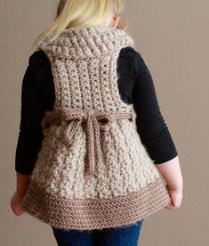 Diy Crochet And Knitting, Crochet Toddler, Crochet Tunic, Crochet For Kids, Crochet Baby, Crochet Cushion Pattern Free, Crochet Diagram, Vestidos Bebe Crochet, Baby Pants Pattern