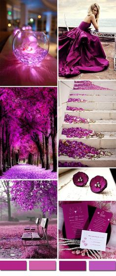 radiant orchid purple wedding color ideas and wedding invitations #orchidswedding