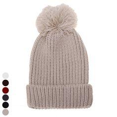 46a43eb44f4 New Stylish Women s Fashion Knit Winter Warm Cap Beanie Hat