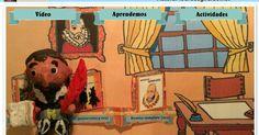 P. C. El Quijote y Cervantes con las TIC. Lourdes Giraldo ha creado este recurso interactivo para que los más pequeños aprendan la vida de Cervantes mientras se divierten. El juego se divide en tres partes: 'Vídeo', 'Aprendemos' y 'Actividades'. Dentro de la categoría 'Aprendemos', aparece una pequeña biografía que explica los datos más importantes de su vida como que nació en Alcalá de Henares, que luchó en la batalla de Lepanto o que escribió muchos niños.