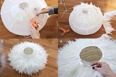 Cómo hacer una elegante lámpara de plumas