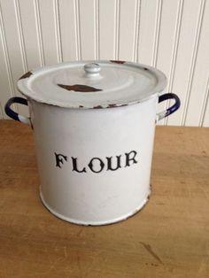 Enamelware Flour Canister