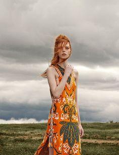 Parada Obrigatoria by Zee Nunes for Vogue Brazil March 2015 orange emilio pucci dress