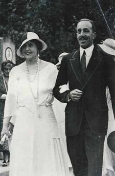 Queen Marie of Romania and King Alfonso XIII of Spain