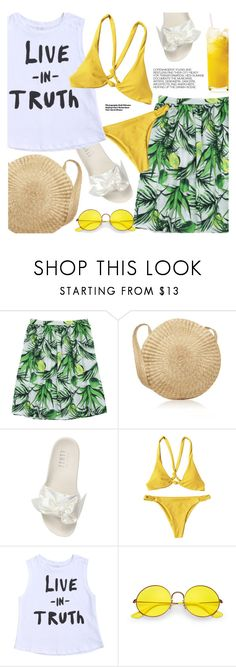 """""""Vacation Style"""" by pokadoll ❤ liked on Polyvore featuring Puma, Ray-Ban and Hedi Slimane"""