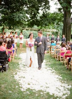 a white petal aisle - super classic Photography by Nina Mullins Photography / ninamullinsphotography.com, Design by Always Planned / alwaysplanned.com