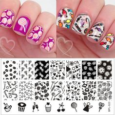 Born Pretty 01 50 Nail Art Stamp Stamping Image Template Plates