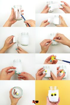 Looking for an easy way to decorate this Halloween? These easy mummy jar lights are simple and require hardly any materials to make! Craft Activities For Kids, Diy Crafts For Kids, Jar Lights, Lily, Crafty, Halloween, Creative, Check, Manualidades