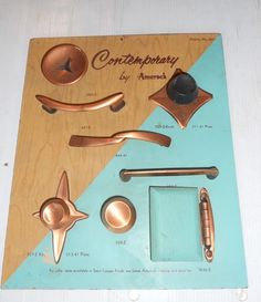 VINTAGE STORE DISPLAY CONTEMPORARY by AMEROCK FURNITURE HARDWARE DISPLAY #522