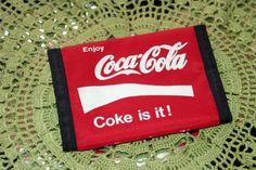 "$10 ~ Vintage Classic Coca Cola Velcro Wallet ""Coke it is!"""