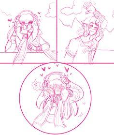 ...I-I think I'm starting to ship Mipha & Link <3