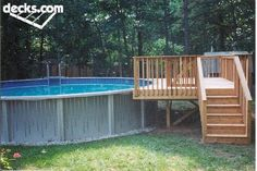 Standard Above Ground Pool Deck | I like this but with a deck all around it