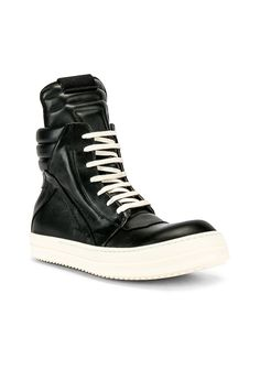 102364ae7b00 RICK OWENS RICK OWENS GEOBASKET SNEAKERS IN BLACK.  rickowens  shoes.  ModeSens Men
