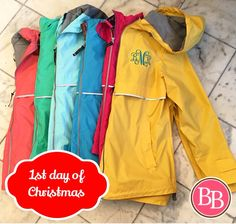On the 1st day of Christmas, I wish Santa would bring to me... A New England Rain Coat from BB!!  It's another rainy day out there BB Girls. This year ask Santa to bring you one of our monogrammed rain coats to keep you nice and dry all year round!! • Get yours >>10% OFF<< today only @brandisboutiqueshop ONLINE!!! • No code necessary • #rainyday #raincoat #monograms #1stdayofchristmas #christmastimeiscoming #giftideas www.brandisboutiqueshop.co > Ladies > Outerwear ☔️
