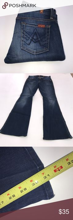 7 for All Mankind 25x31 Dark Wash 0224 7 for All Man Kind 25x31 Dark Wash 0224 A pocket 7 For All Mankind Jeans Boot Cut