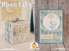 stampin up moon baby birth geburt verpackung geschenk cupcakes und karrussels Stempeltier