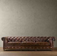 I make special trips to Restoration Hardware to visit this sofa. The Vintage Cigar leather is so supple and feels divine.