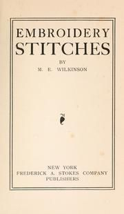 EXCELLENT stitches and info and just read it.