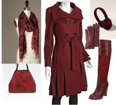 """Winter coats in non-traditional colors  Wear some non-traditional colors, some that are your season's """"power colors"""""""