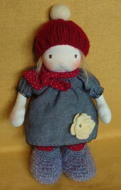 "12"" Organic cloth doll, Waldorf inspired handmade"