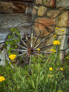 Country Living ~ Wagon Wheel