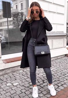 clothes for women,womens clothing,womens fashion,womans clothes outfits Uni Outfits, Cute Casual Outfits, Winter Fashion Outfits, Mode Outfits, Stylish Outfits, Fall Outfits, Fashion Ideas, Blazer Fashion, Brunch Outfit