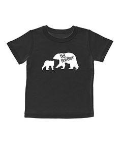 Black & White 'Big Brother' Tee - Toddler & Kids #zulily #zulilyfinds