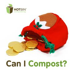 12 Days of HOTBIN Composting - Sweet Treats at #Christmas, leftover mince pies, chocolate coins and much more can be composted. http://www.hotbincomposting.com/blog/composting-sweets.html | #waste #gardening #compost #recycling