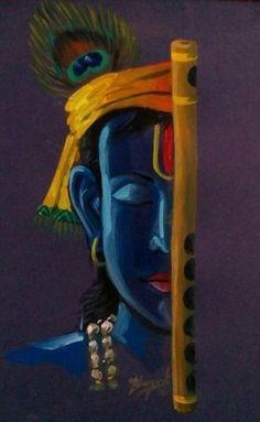 Wallpaper-world: Kanha photo Art Painting, Indian Art Paintings, Pastel Art, Ganesha Painting, Buddha Painting, Painting, Art, Krishna Painting, Canvas Painting