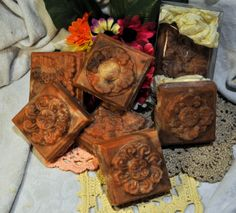 Milk Chocolate - natural handmade soap.  Milk chocolate, cocoa butter, cocoa powder.