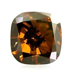 Brown Natural Diamond 0.72 Ct Fancy Brown Color Loose Cushion Cut