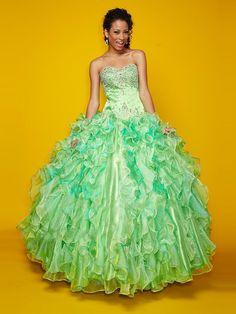 Ball Gown Sleeveless Sweetheart Floor-Length Beading Organza Quinceanera Dresses
