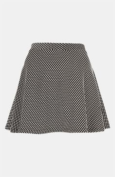 Topshop Polka Dot Skater Skirt available at #Nordstrom