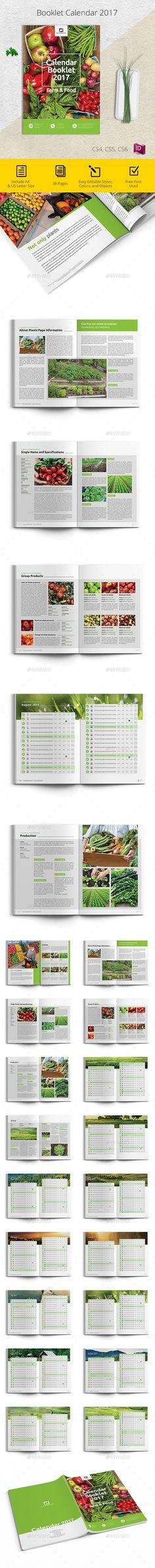 2017 Calendar Farm & Food Brochure Template InDesign INDD. Download here: https://graphicriver.net/item/2017-calendar-farm-food/17436641?ref=ksioks
