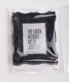 The Earth Without Art is Just Eh  Mini Magnet  Gold by jpants4sale, $6.99