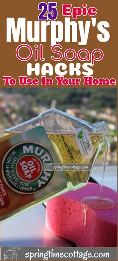 household hacks Murphy's oil soap is one of the best cleaners with such a nice smelling aroma, this specially formulated soap is safe for the environment. It can be used on pets and it Homemade Cleaning Supplies, Diy Home Cleaning, House Cleaning Tips, Green Cleaning, Spring Cleaning, Fridge Cleaning, Cleaning Wood, Kitchen Cleaning, Household Cleaning Tips