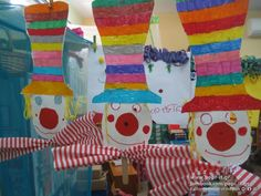 Clown Crafts, School Carnival, Clown Mask, Circus Theme, Classroom Inspiration, Tricycle, Art School, Party Themes, Craft Projects