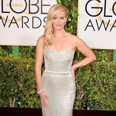 Reese Witherspoon 2015 Golden Globes in Calvin Klein