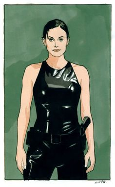 Art of Phil Noto : Trinity Female Movie Characters, Phil Noto, Spy Girl, Girl Sketch, Marvel, Badass Women, Pulp Fiction, Science Fiction, Keanu Reeves