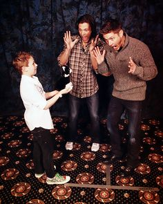 """Jared Padalecki and Jensen Ackles - Supernatural silliness. """"That was SCARY!"""" haha still my favorite episode"""
