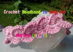 "Audio In English Crochet Beautifull Headband Baby ""Celine"" girls / Haarband in English !! all sizes, we make this beautifull headband easy step by step in en..."