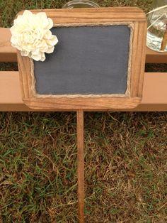Rustic Wedding Chalkboard Sign Rustic Wedding by CountryBarnBabe